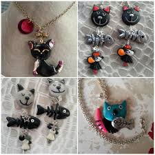 collier animaux en pate fimo