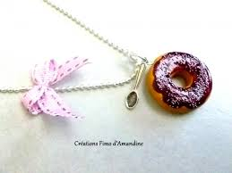 collier donuts fimo