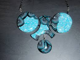 collier fimo turquoise