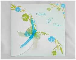 faire part mariage turquoise vert anis