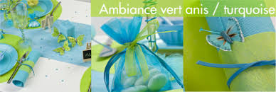 mariage vert anis et turquoise