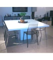 table carree 8 personnes pied central