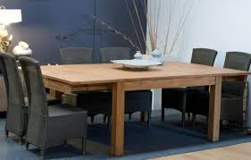 table carree teck 8 personnes