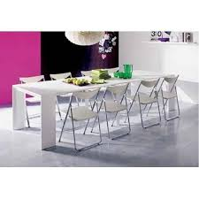 table laquee blanc 8 personnes